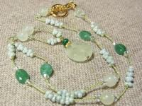 【Sold Out】シルクコードネックレス「Midori」
