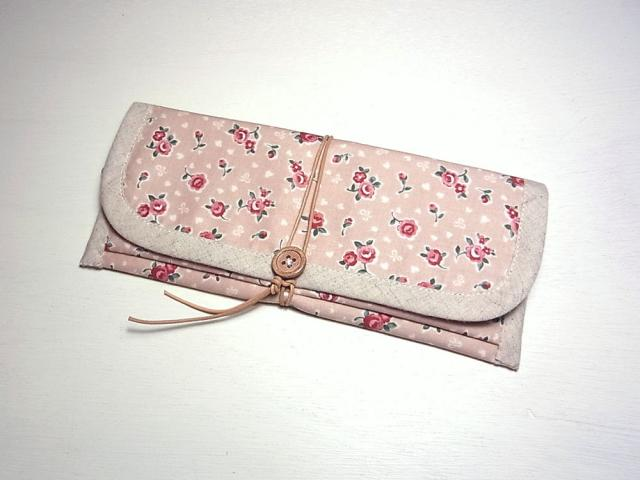 【Sold Out】ぺたんこ長財布 「Cute Rose」